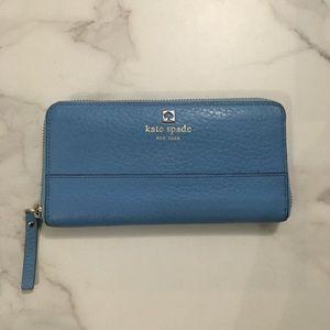 EUC Kate Spade Wallet Blue